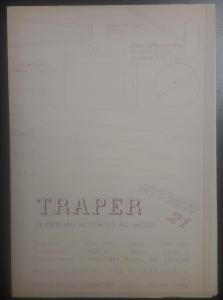 Stavební plánek na letadlo RAWA 21 - TRAPER - sportovní motorový RC