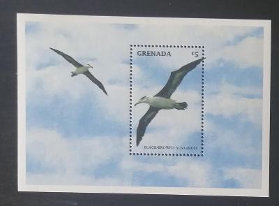 Grenada 1998 Bl.493 7,5€ Mořští ptáci Karibiku - Albatros