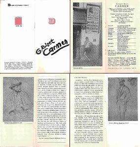 Divadelní program - Liberec - G. Bizet - opera Carmen - 1979