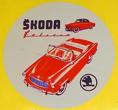 ŠKODA 450, Felicia, Felicia Super, cabrio (bílá samolepka pr.7-1x).