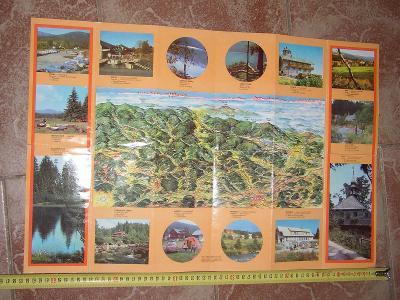 mapa Šumava- letní, zimní -1975?