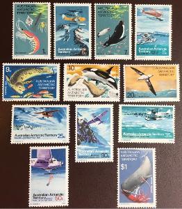 Austrálske antarktické teritórium 1973 ** fauna a lietadlá mi. 23-34