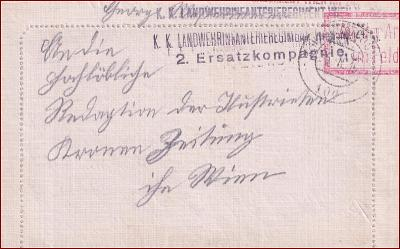 Feldpost nr. 100 * polní pošta, razítko, regiment, skládaný dopis F06