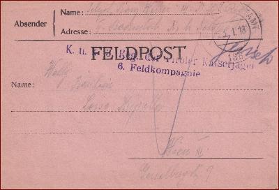Feldpost nr. 136 * polní pošta, razítko, regiment, skládaný dopis F08