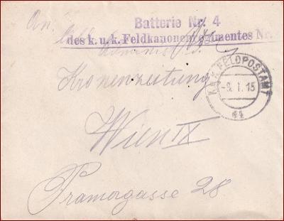 Feldpost nr. 64 * polní pošta, razítko, regiment, obálka F34