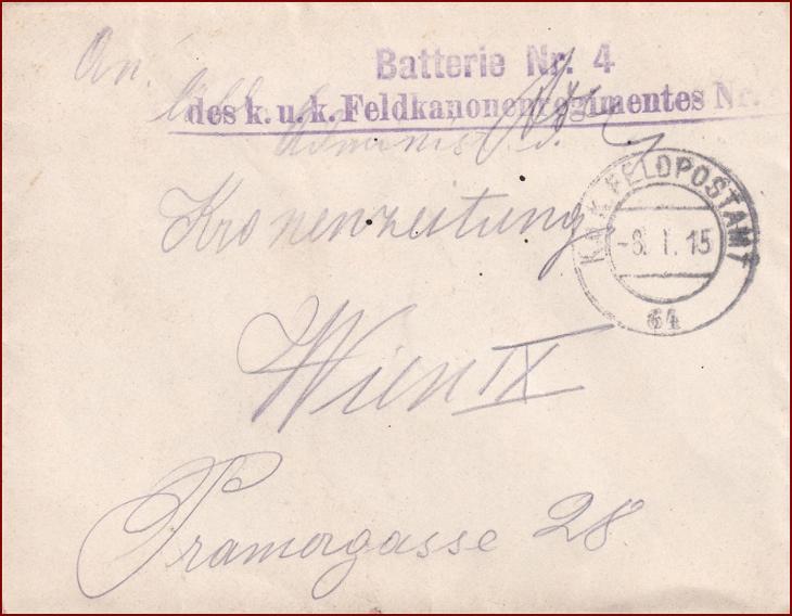 Feldpost nr. 64 * polní pošta, razítko, regiment, obálka F34 - Filatelie
