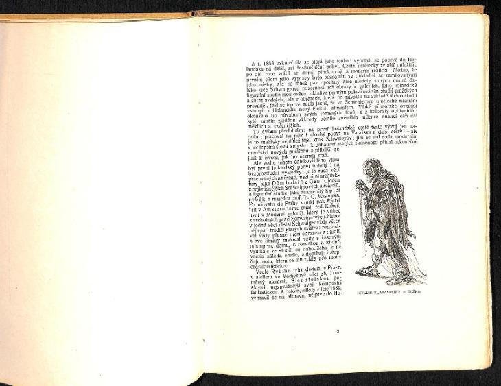 HANS SCHWAIGER - monografie Jiránek, Volné směry 1908, perfektní stav - Umění
