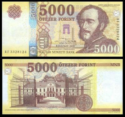 MADARSKO 5000 Forint 2020 P-205c UNC