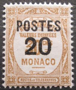 Monako 1937 Doplatní přetisk Mi# 152 0043