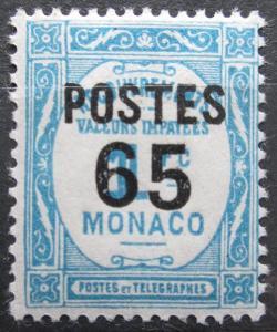 Monako 1937 Doplatní přetisk Mi# 157 0043