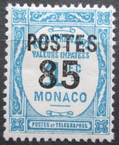 Monako 1937 Doplatní přetisk Mi# 158 Kat 10€ 0043