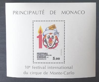 Monako 1984 Bl.27 5€ X. ročník festivalu cirkusů, kultura