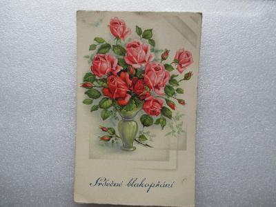Srdečné blahopřání - 1940 - MF ----- nádherné -----