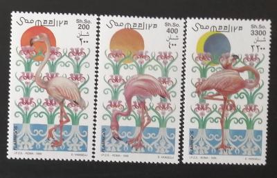 Somálsko 1998 Mi.726-8 12€ Plameňáci, afričtí vdní ptáci a fauna
