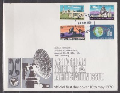 Keňa - Uganda - Tanzánie - FDC - satelity