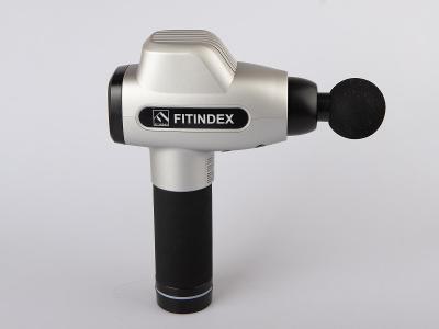 Masážní pistole FITINDEX/ až 3200 ot./min/ 6 hlavic/ 2500mAh/ Od 1Kč!
