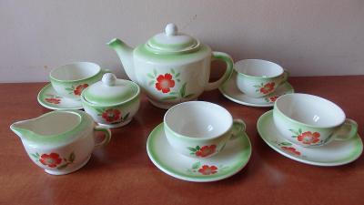 Starožitný čajový servis Teplice