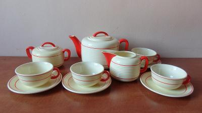 Art deco čajový servis Teplice
