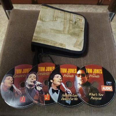 4 orig.CD TOM JONES-Největší hity 1+2 a S přáteli 1+2+box na 40 CD/DVD