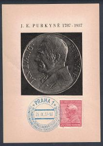 ČSR1 Pamětní list J.E.Purkyně 1937