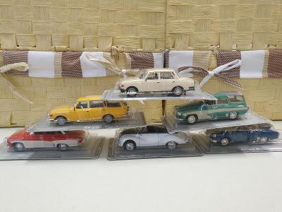 Modely iST MODELS - sbírka 6kusů osobní auto IFA / WARTBURG 1:43