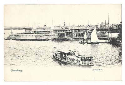 Pohlednice, Hamburg, přístav, DA, MF, 64/50