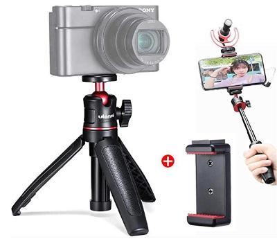 Ulanzi MT-08 - mini stativ, grip a selfie tyč v jednom + DRŽÁK MOBILU