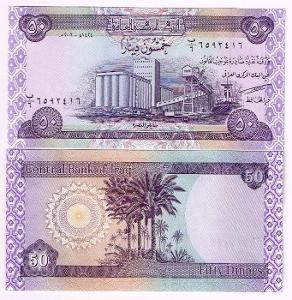 Irák 50 dinars P-90 2003 UNC / N