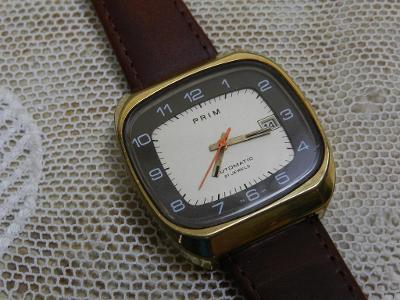Pánské náramkové hodinky Prim Televize Automatic krásný stav