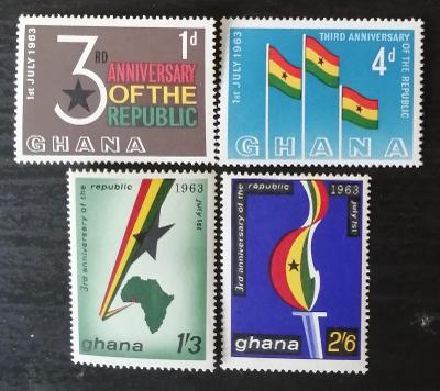 Ghana 1963 Třetí výročí republiky, vlajky