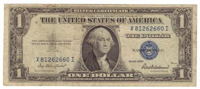 USA 1 Dollar 1935-F, X 81262660 I, stav VG/F