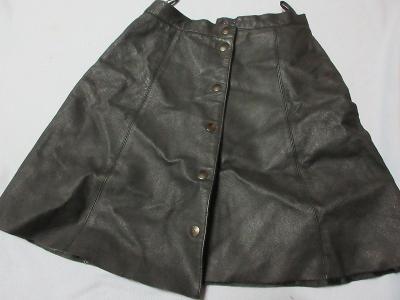 sukně  rozepínací  koženka