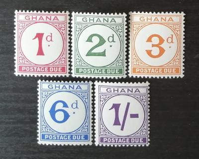 Ghana 1958 Doplatní známky