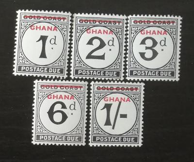 Ghana 1958 První doplatní známky, přetisky