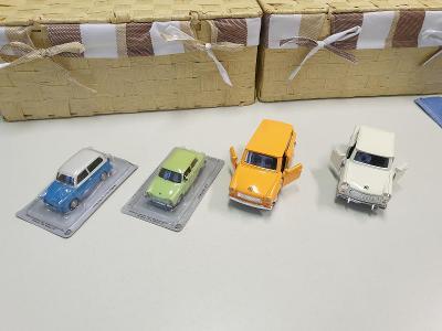 Modely iST MODELS - sbírka 4kusů osobní auto TRABANT