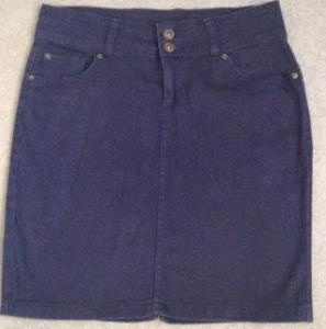 Riflová elastická mini sukně - 39/M, Esmara - Top stav