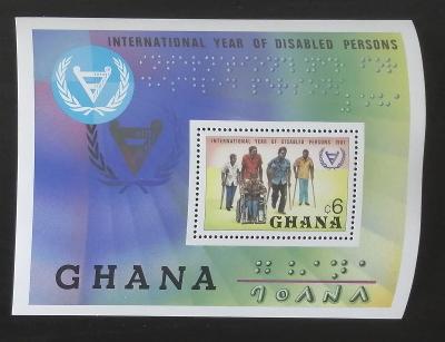 Ghana 1982 Bl.93 5,5€ Mezinárodní rok postižených osob
