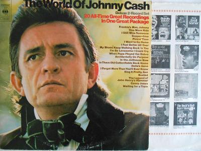 Johnny Cash – The World Of Johnny Cash 2xLP 1971 vinyl NL 1.press