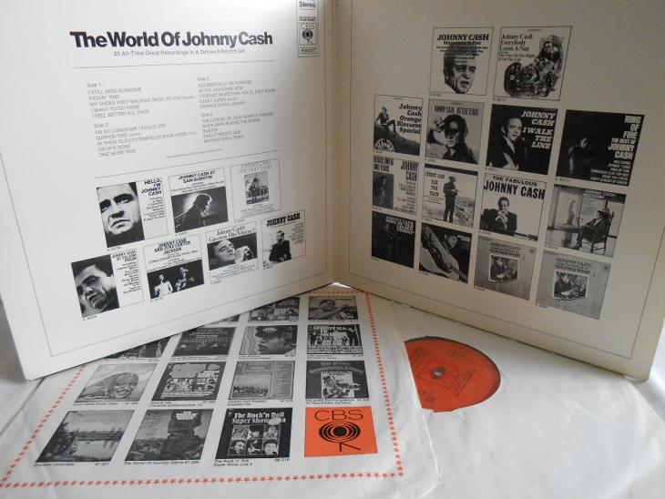 Johnny Cash – The World Of Johnny Cash 2xLP 1971 vinyl NL 1.press - Hudba