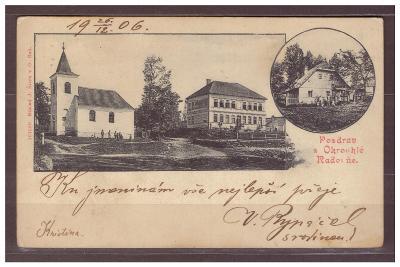 Okrouhlá Radouň  - Jindřichův Hradec  1906 - Nová Včelnice