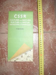 mapa- ČSSR- kultura 1987