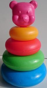 PLASTOVÁ SKLÁDAČKA- míša, 21cm