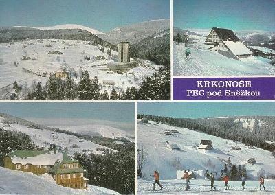 Pohlednice Krkonoše, Pec pod Sněžkou, prošlá