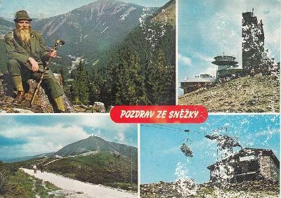 Pohlednice Krkonoše, Sněžka, prošlá