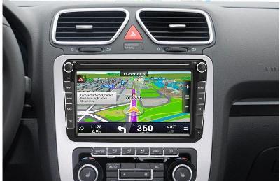 """NOVÉ 8"""" Android autorádio + parkovací kamera - VW ŠKODA SEAT"""