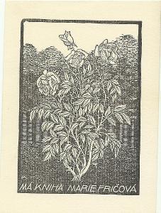 František Kobliha: Má kniha Marie Fričová (1918; dřevoryt)