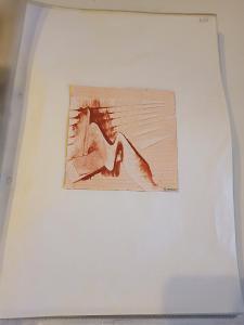 Sada miniatur/Akvarel na papíře/U. Werner/10x10 cm/88 ks...(13610)