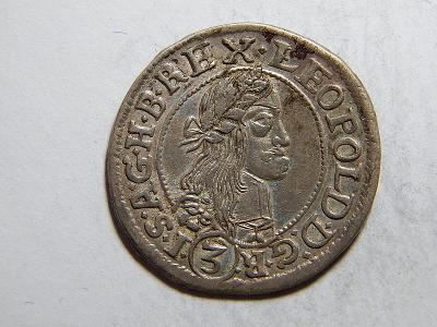 Leopold I. 3 Kreuzer 1667 KB XF č05376