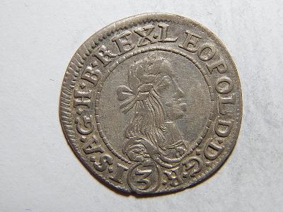 Leopold I. 3 Kreuzer 1673 KB XF č05373