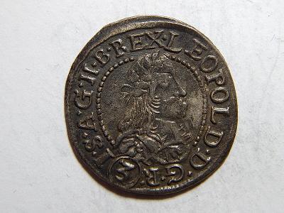 Leopold I. 3 Kreuzer 1678 KB XF č05375